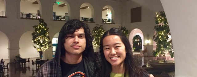 Aniel and Cassidy in the SDSU Student Union.