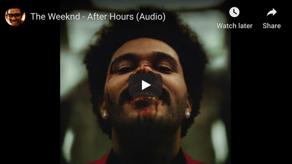 "Screenshot of The Weekend ""After Hours"" 