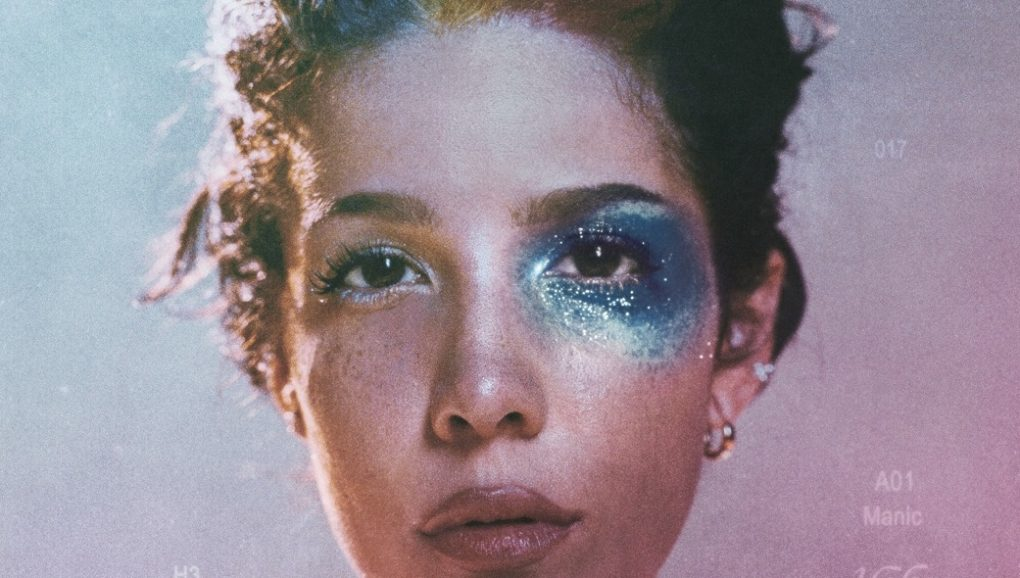 Halsey album manic album cover. Girl with glitter on face.
